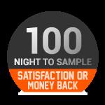 Satisfait ou remboursé - 100 nuits d'essai